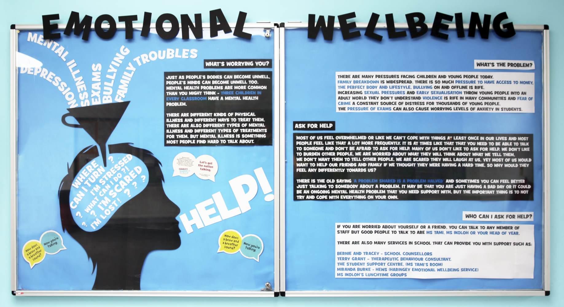 Woodside High School - Emotional wellbeing